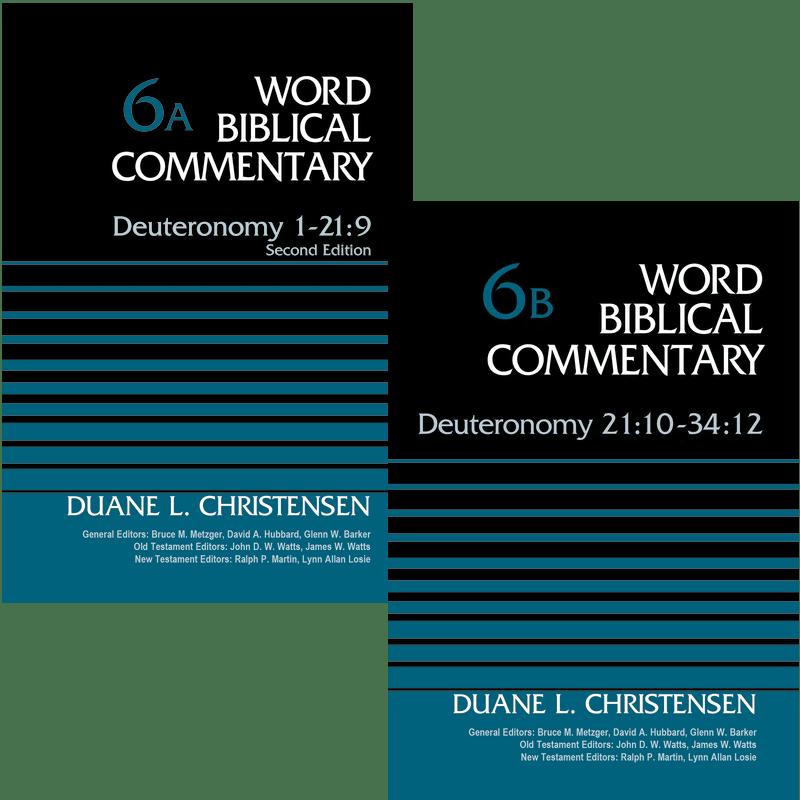Deuteronomy  2 vols. (Word Biblical Commentary, Volume 6A & 6B | WBC)