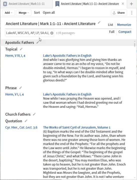 P8-2 Passage List