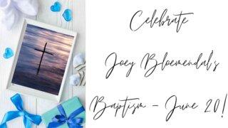June 20 Joey B Baptism