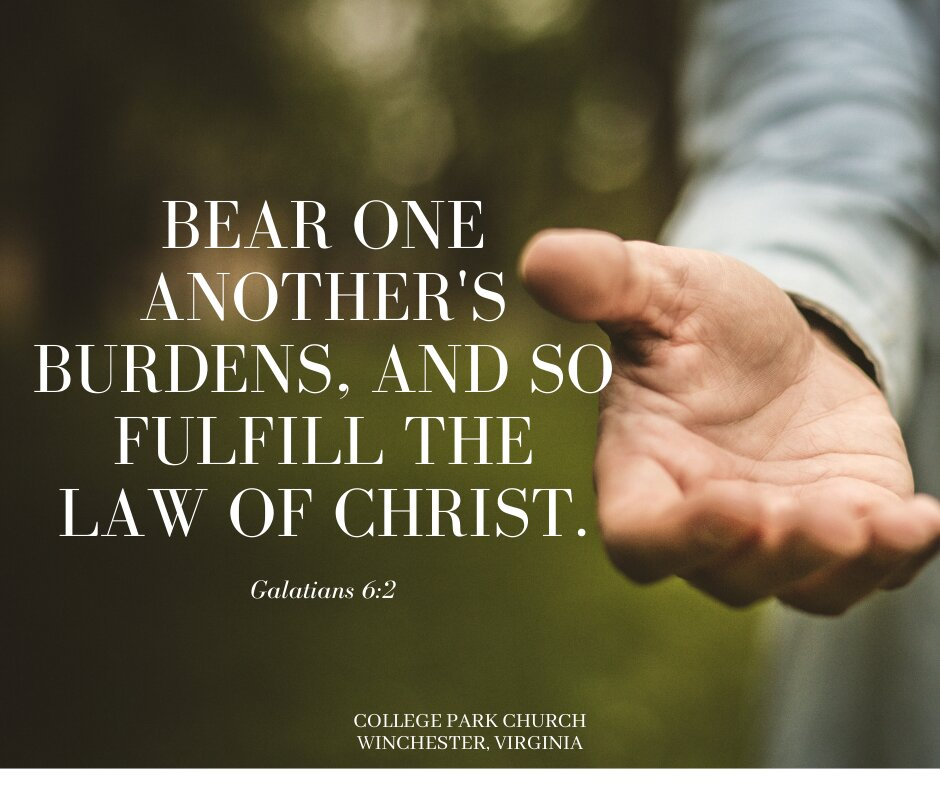 What does it mean to bear one another's burdens?