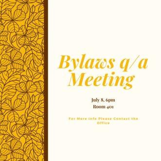 Bylaws q/a Meeting