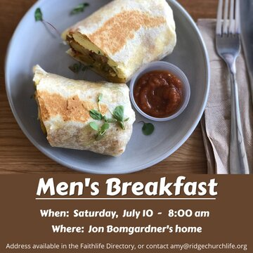 Men S Breakfast July