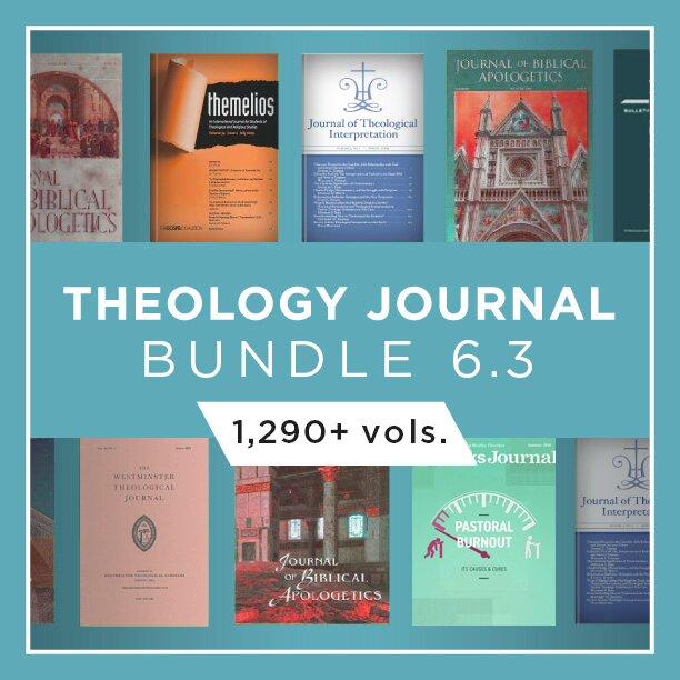 Theology Journal Bundle 6.3 (1,290+ vols.)
