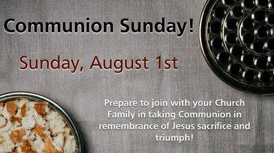 August Communion Sunday