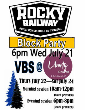 Updated Liberty Church VBS Flyer Half Page