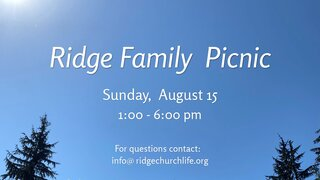 Ridge Family Picnic 3