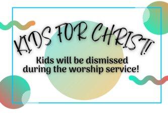 kids for christ!