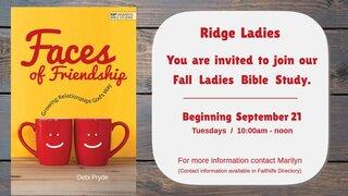 2021 Fall Ladies Bible Study 2
