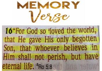 Memory Verse John 3-16