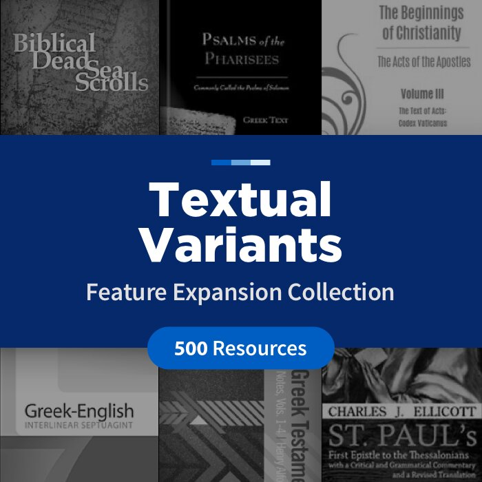 Textual Variants Feature Expansion Collection (500 Resources)