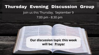 Thursday Evening Discussion Group 2