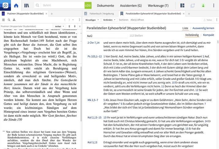 Logos Bibelsoftware Predigtassistent