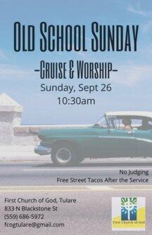 Old School Sunday Flyer