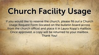 Church Facility Usage