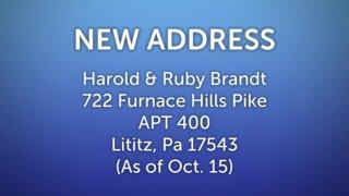 Brandt New Address