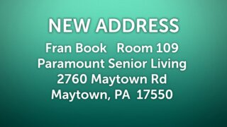 Fran New Address