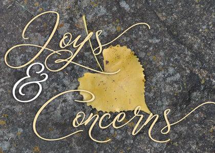 Prayers Joys And Concerns