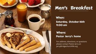 Men S Breakfast October