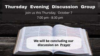 Thursday Evening Discussion Group 6