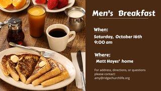 Men S Breakfast October 2