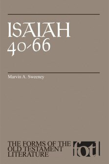 Isaiah 40–66 (Forms of the Old Testament Literature | FOTL)