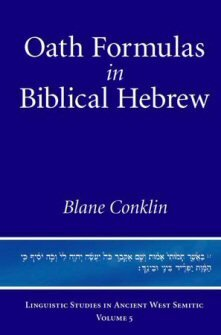 Oath Formulas in Biblical Hebrew