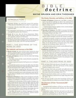 Bible Doctrine Sheet