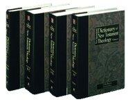 New International Dictionary of New Testament Theology (4 vols.)