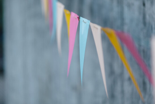 Colorful party banner