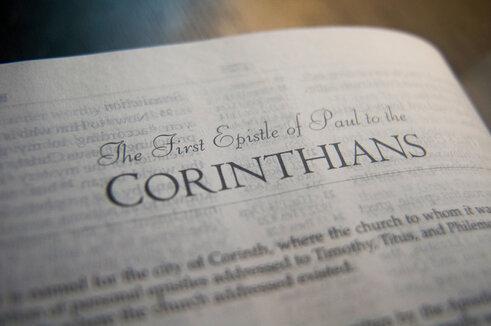 1Corinthians Bible page