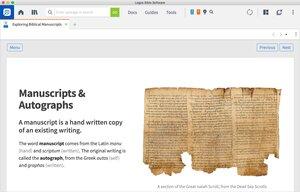 Exploring Biblical Manuscripts