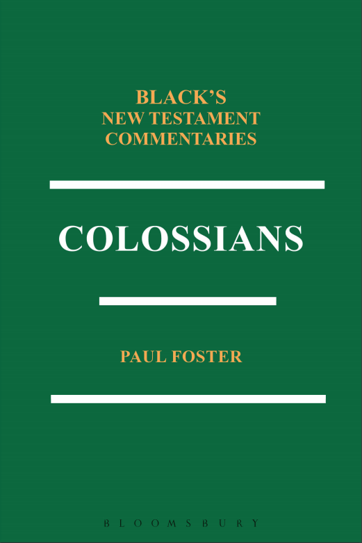 Colossians (Black's New Testament Commentaries | BNTC)