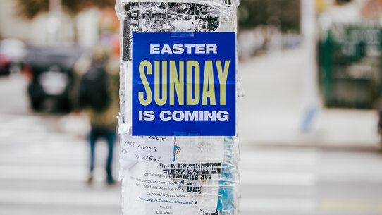 Easter Sunday is Coming Poster in the City