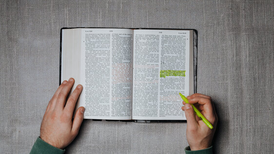 Highlighting a Bible Verse