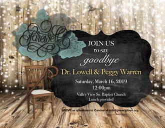Lowell's Goodbye Invite
