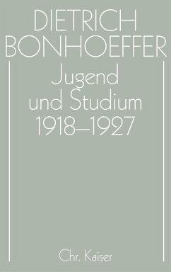 Jugend und Studium 1918–1927