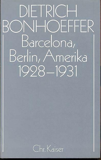 Barcelona, Berlin, Amerika 1928–1931