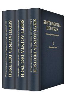 Septuaginta Deutsch mit Erläuterungen und Kommentaren (3 Bände)