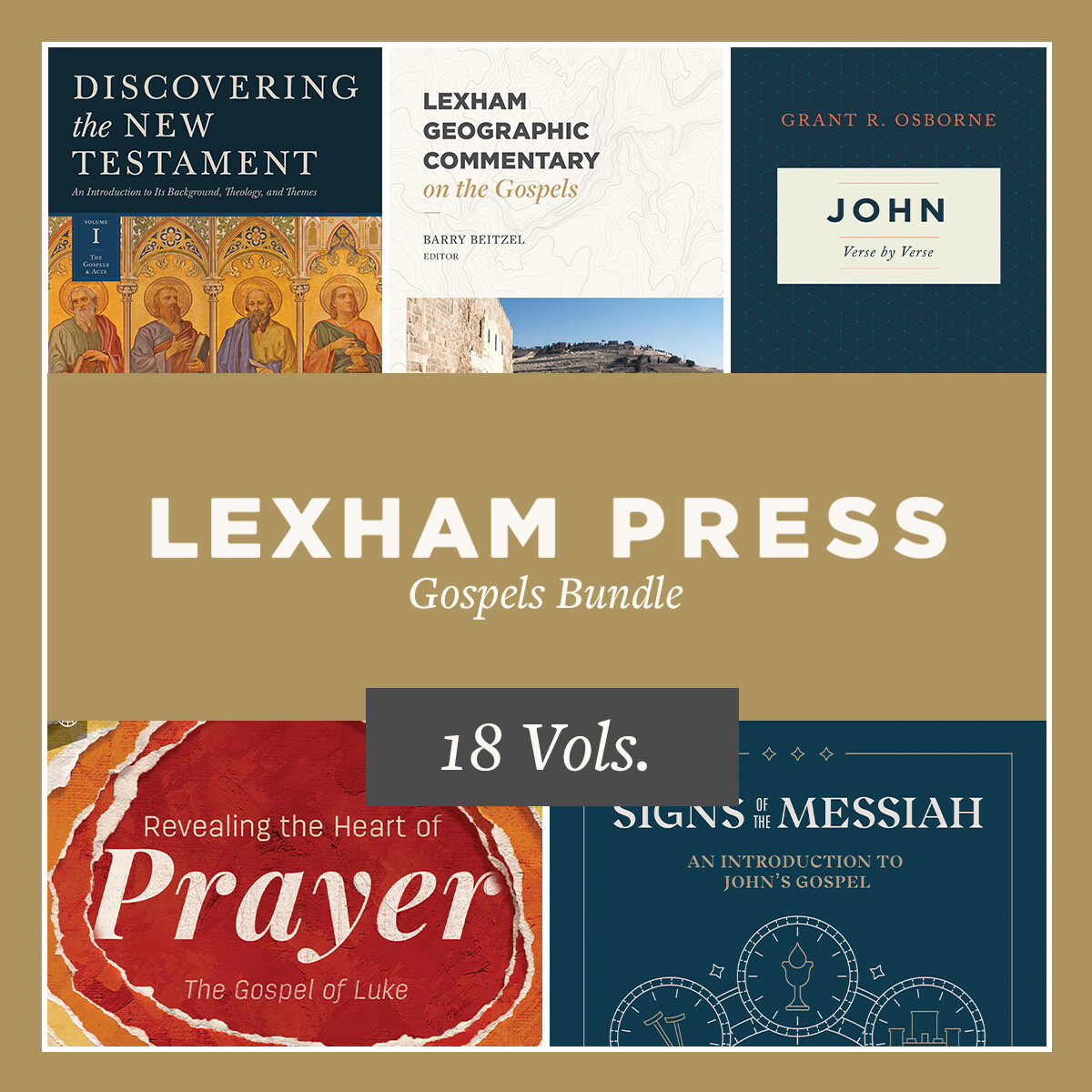 Lexham Press Gospels Bundle (18 vols.)