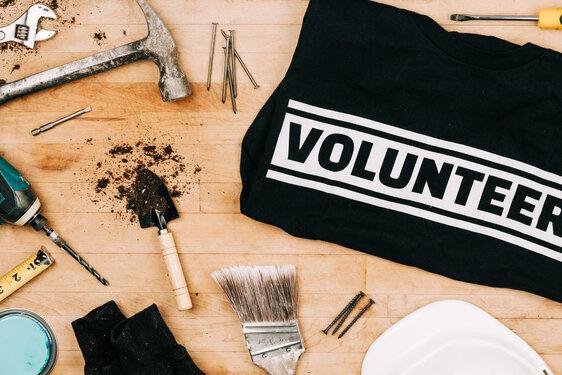 Volunteer Work Project Flatlay
