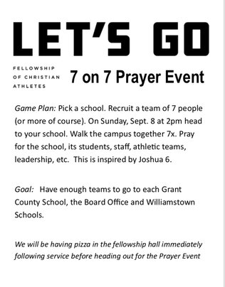 Prayer Walk for our Schools