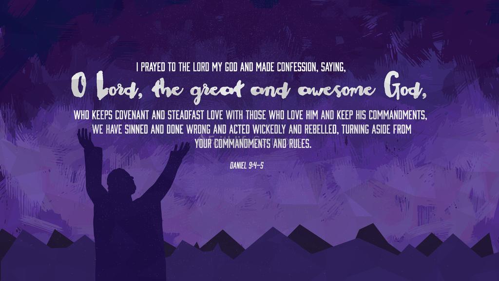 Daniel 9:4–5 large preview