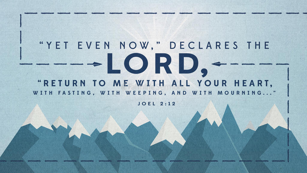 Joel 2:12 large preview