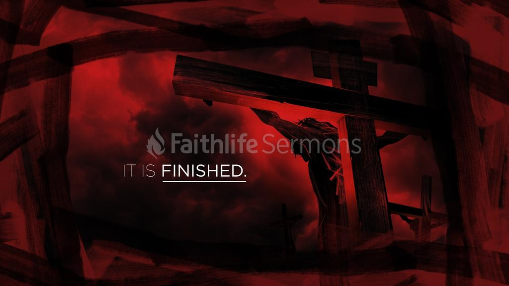 Cross in Red it is finished preview