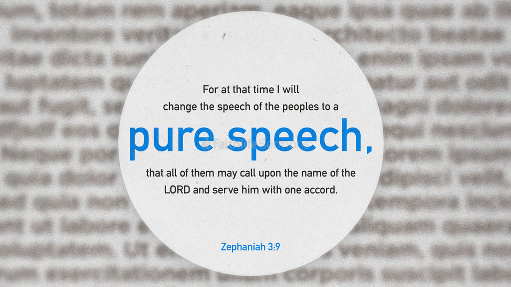 Zephaniah 3:9 large preview