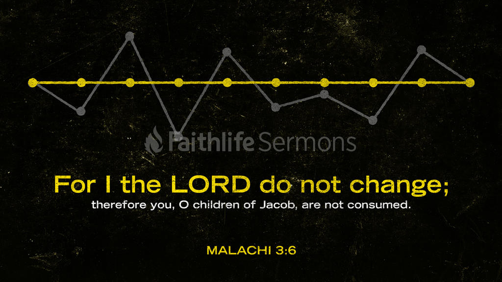 Malachi 3:6 large preview