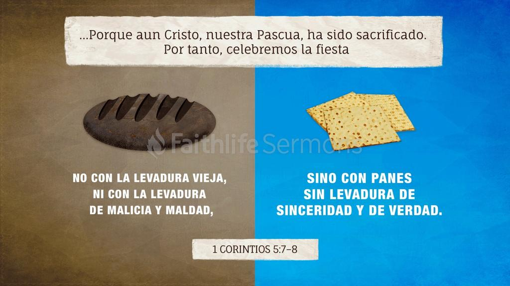 1 Corintios 5.7–8 large preview