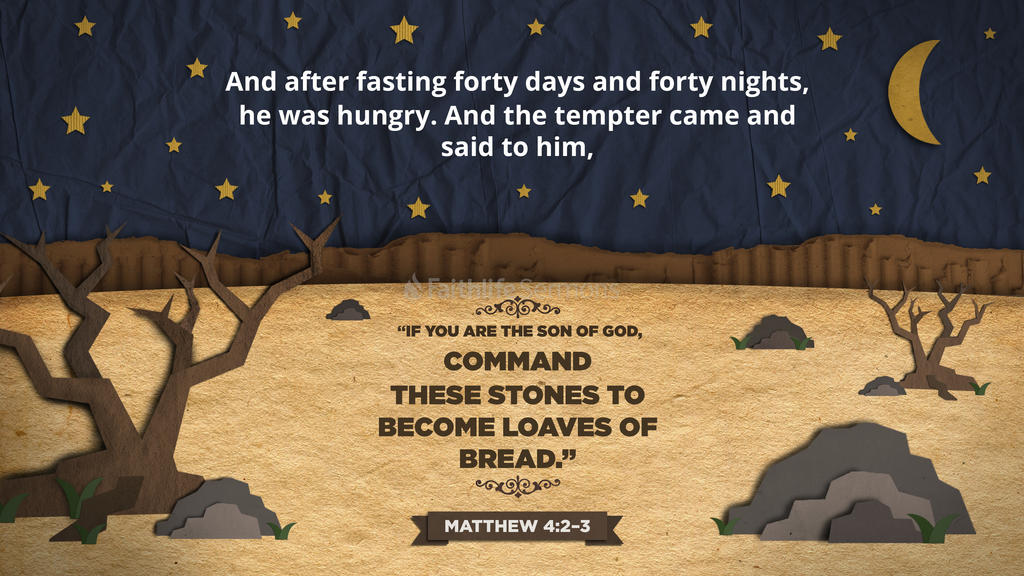 Matthew 4:2–3 large preview