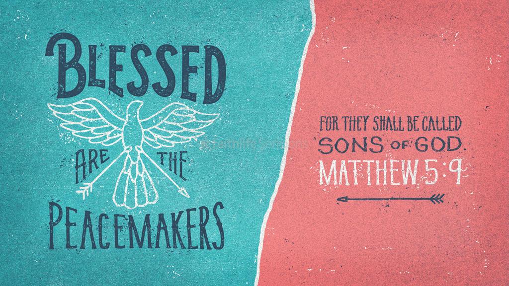 Matthew 5 9 3840x2160 preview