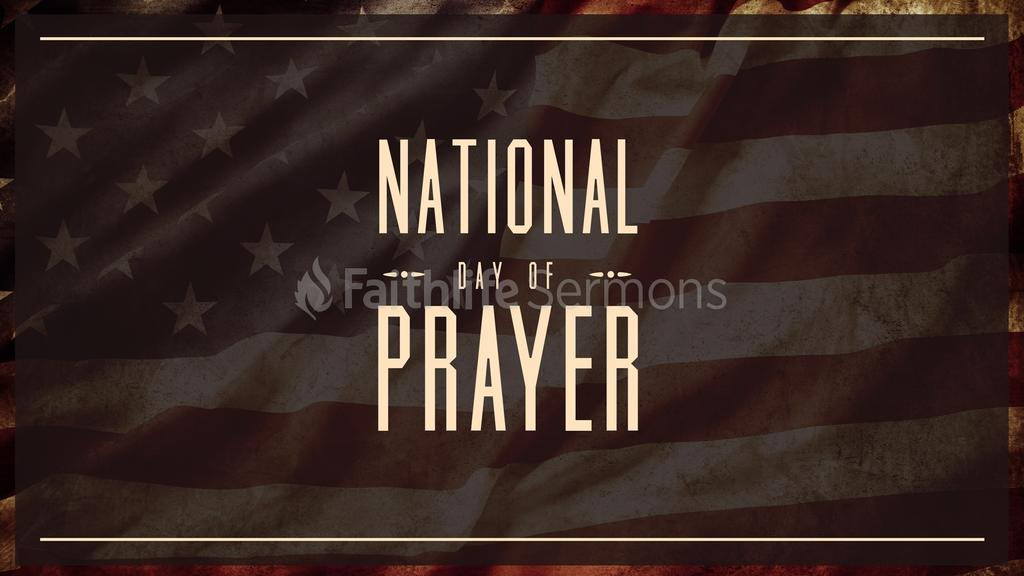 Desaturated Flag national day of prayer preview